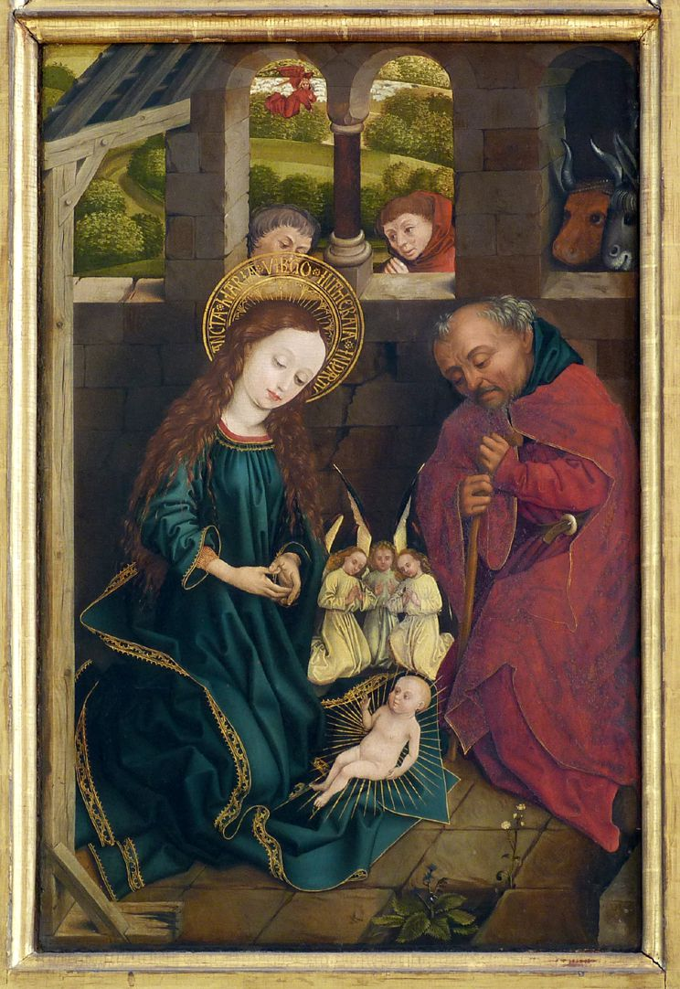 Dreikönigsaltar linker Seitenflügel, unten: Geburt