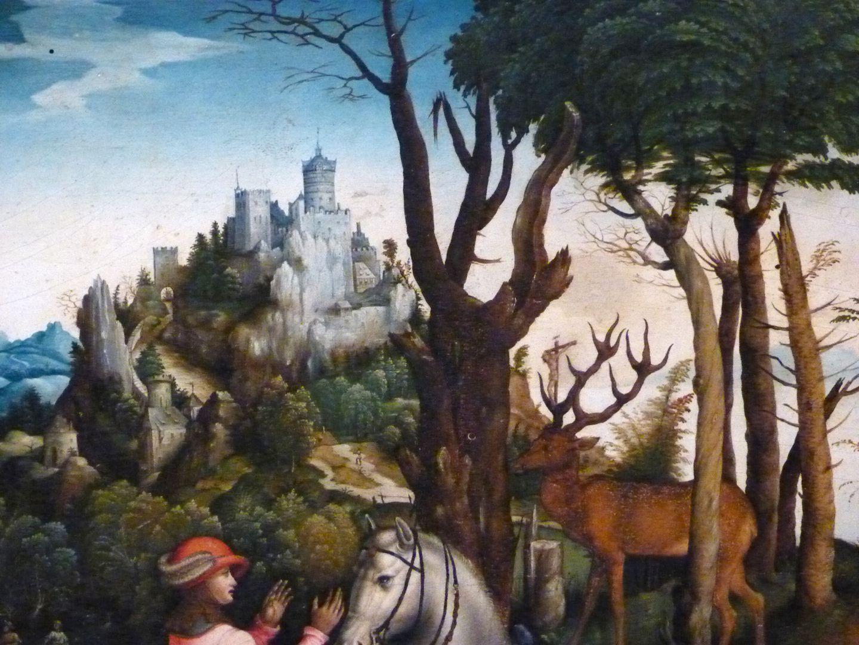 Kopie des hl. Eustachius nach Albrecht Dürer obere Bildhälfte