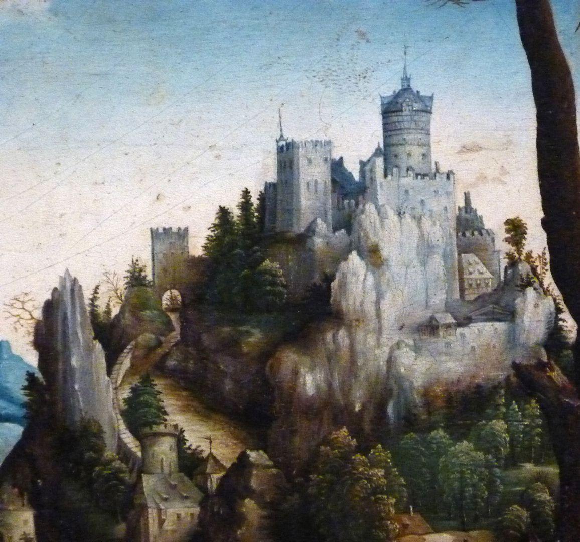 Kopie des hl. Eustachius nach Albrecht Dürer Detail mit Burg