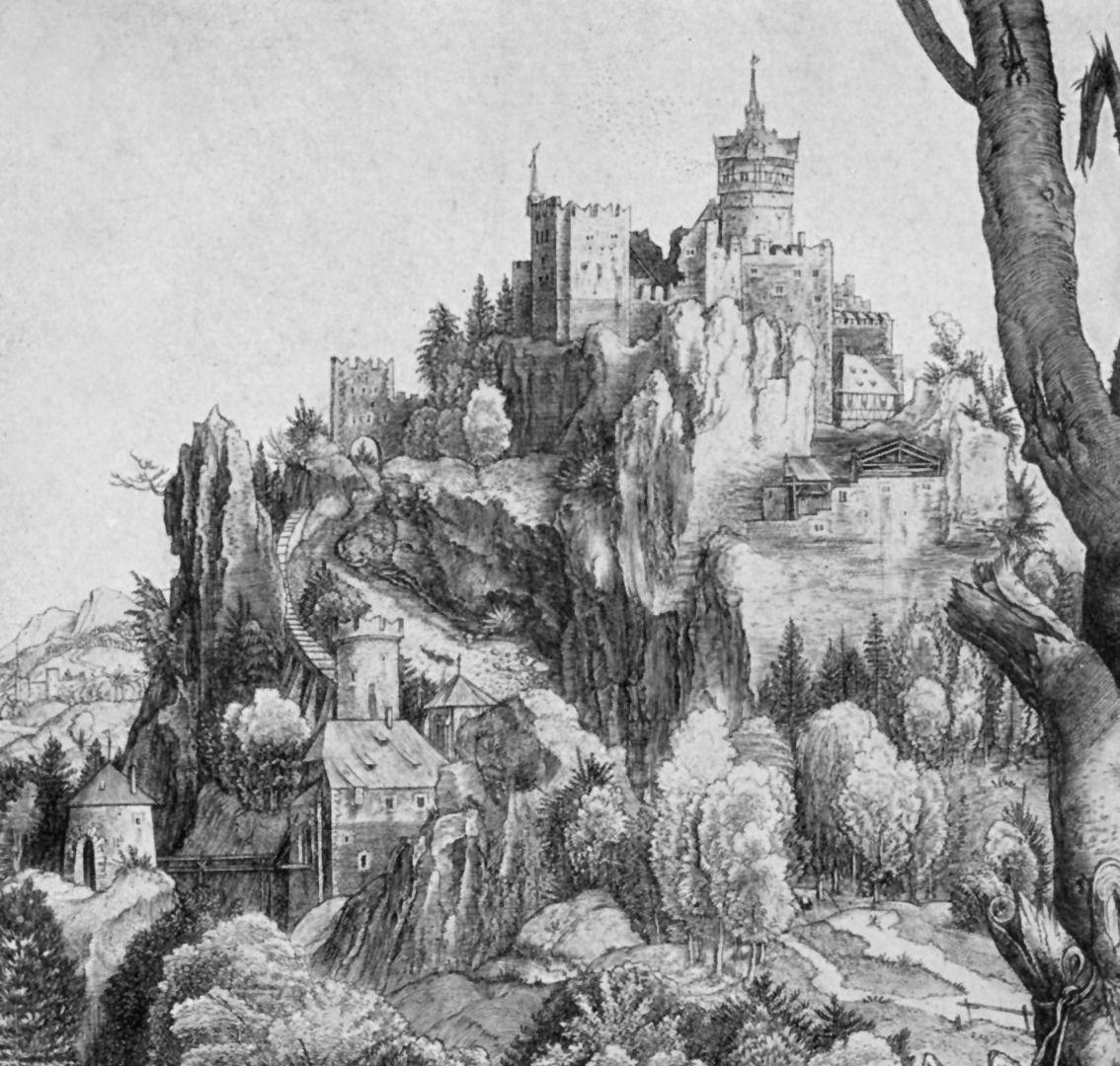 hl. Eustachius Detail mit Burg