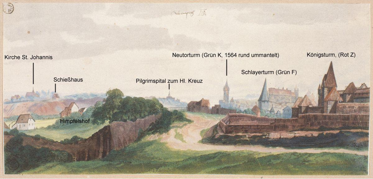 Nordwestlicher Altstadtrand Gesamtblatt mit Bezeichnungen