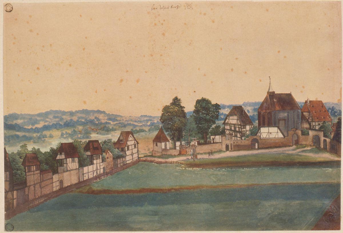 Kirche und Kirchhof von Sankt Johann bei Nürnberg Gesamtblatt