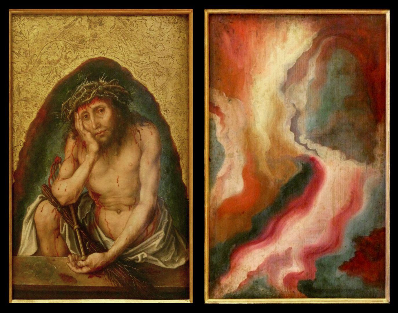Christus als Schmerzensmann Vorder- und Rückseite