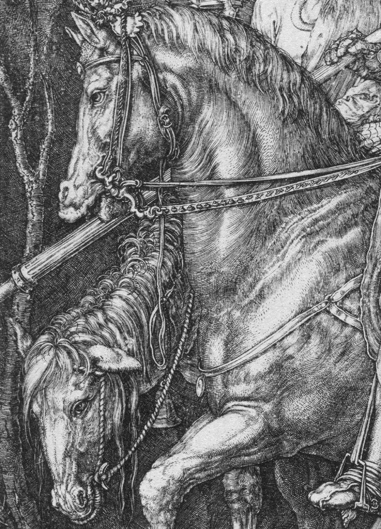 Ritter, Tod und Teufel Pferde