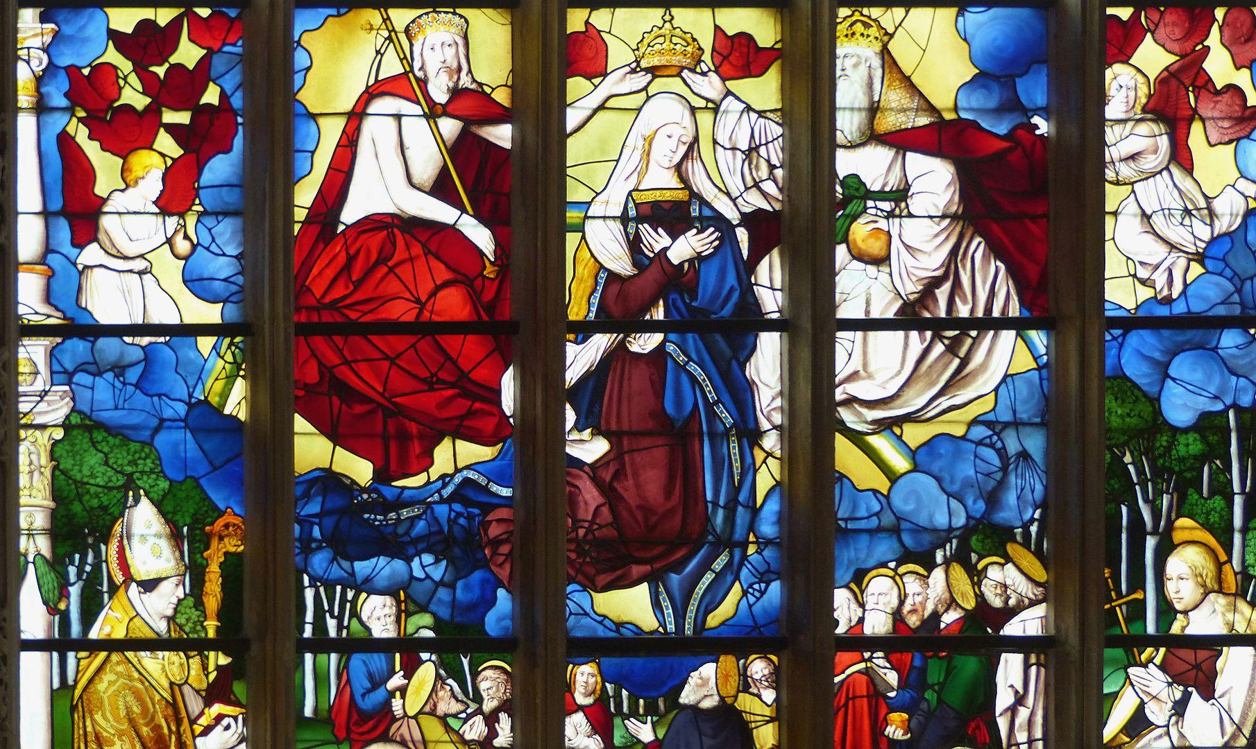 Himmelfahrt und Krönung Mariä mittleres Register mit der Marienkrönung