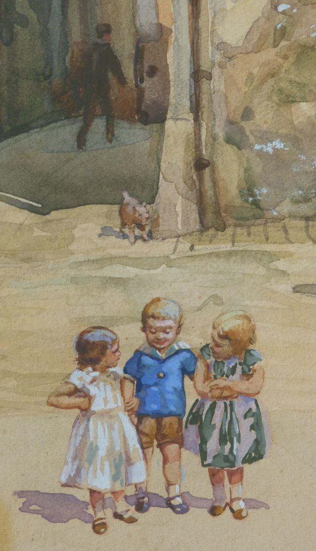 Nürnberger Straßenszene Detailansicht: Kinder