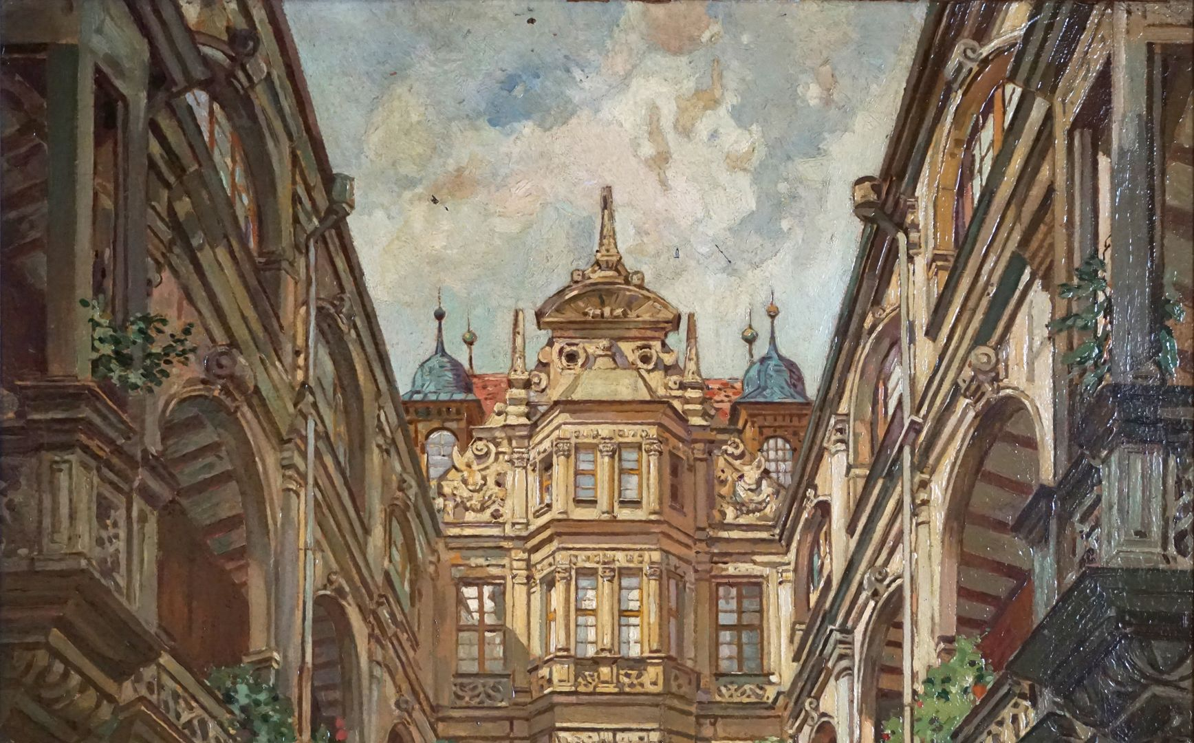 Hof des Pellerhauses oberes Bilddrittel