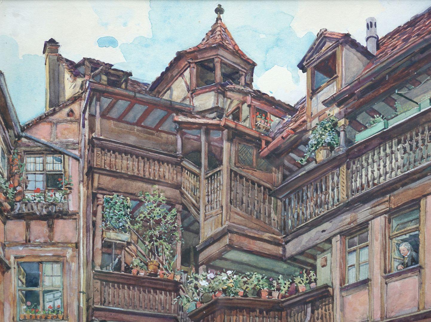Nürnberger Innenhof obere Bildhälfte