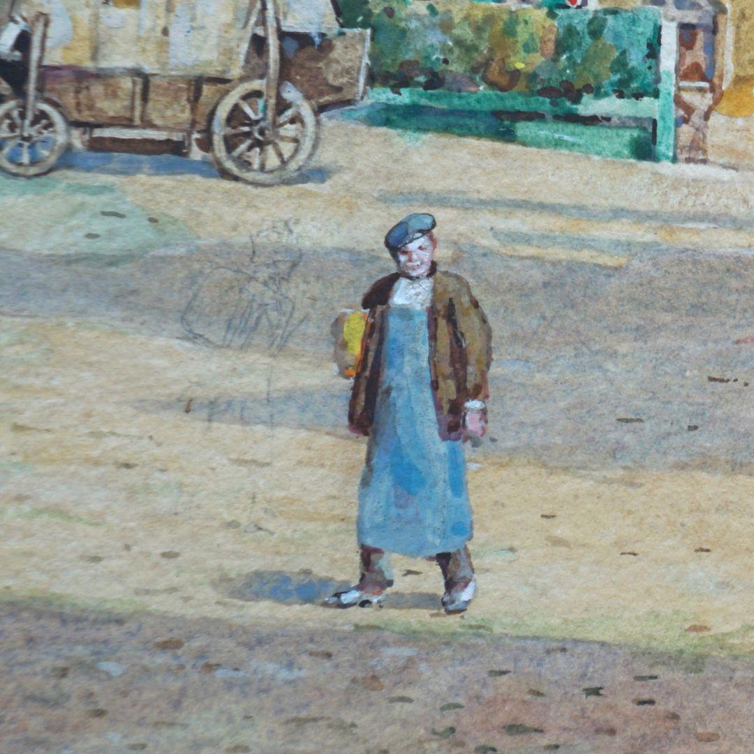 Tiergärtnertorplatz Detail, mit erkennbarer Vorzeichnung einer weiteren Figur