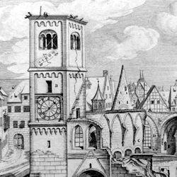 """""""Urbis Norimbergensis Insigniorum Templorum …"""" Ruine der Egidienkirche"""
