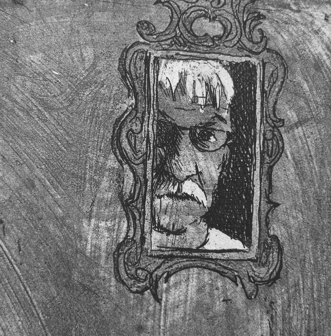 Stillleben mit Selbstportrait Selbstportrait des Künstlers im Spiegel