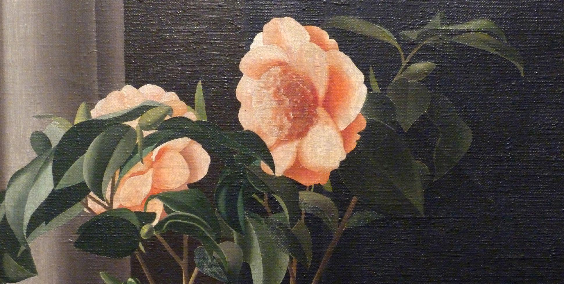 Blumenstock, Kamelie Detail, Blüten