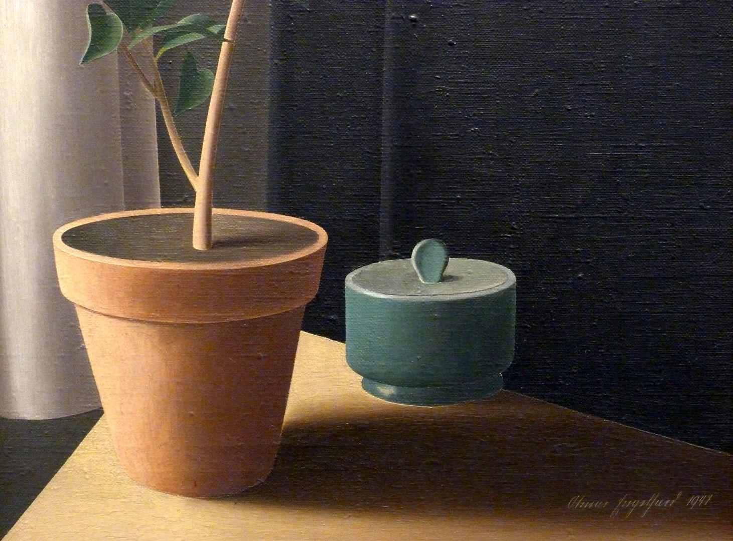 Blumenstock, Kamelie unteres Bilddrittel mit Künstlersignatur