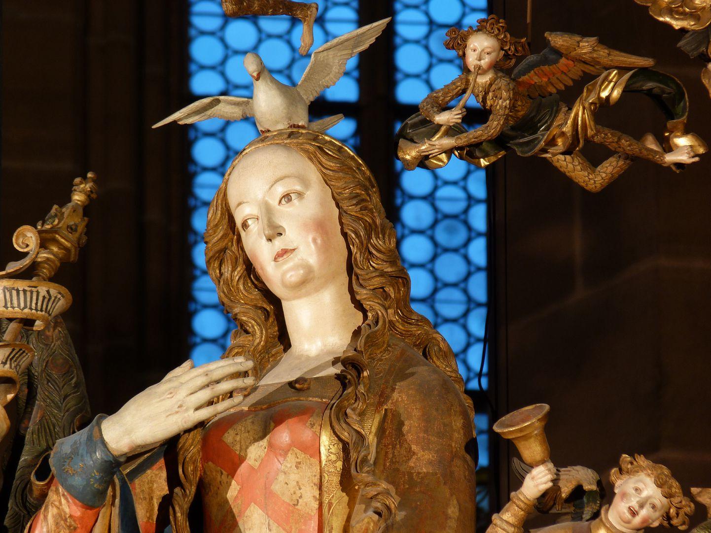 Englischer Gruß Maria mit dem Heiligen Geist