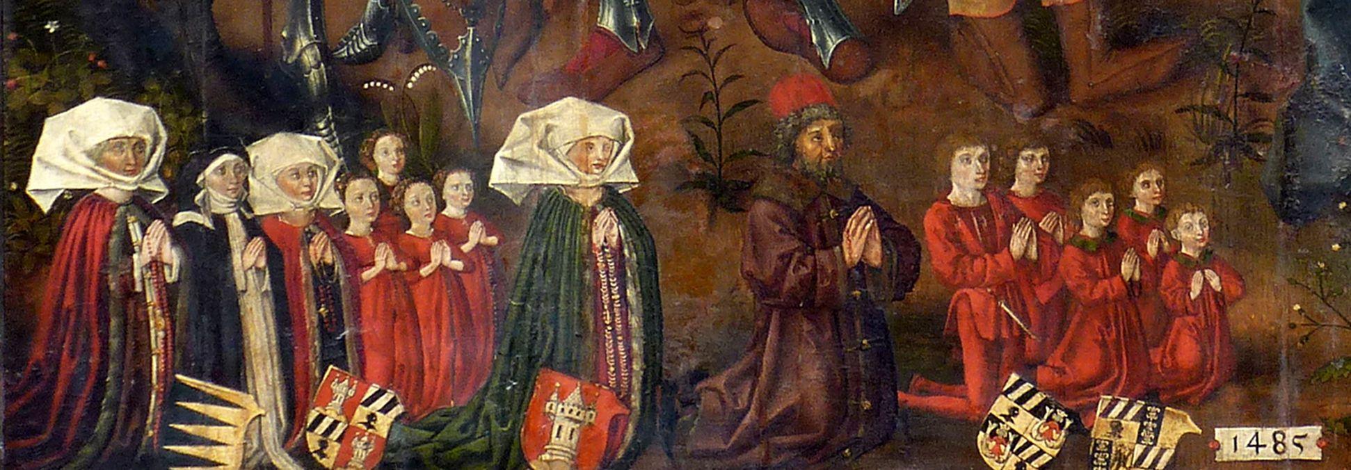 Epitaph für Barbara Tucher Stifterfamilie, Detail