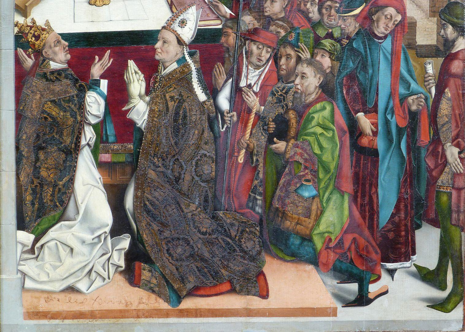Epitaph des Hans Mayer (gest. 21.8.1473) und Ehefrau Kunigunde, geborene Sternecker (gest. 23.3.1450) untere Tafelhälfte