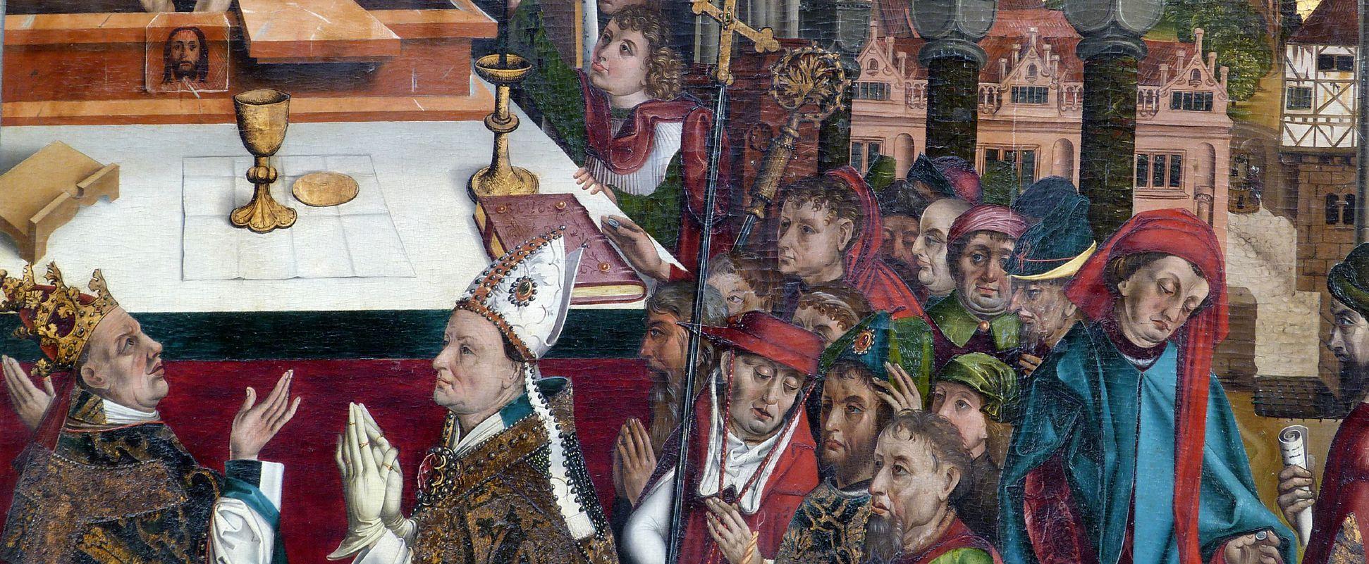 Epitaph des Hans Mayer (gest. 21.8.1473) und Ehefrau Kunigunde, geborene Sternecker (gest. 23.3.1450) Mittelteil der Tafel
