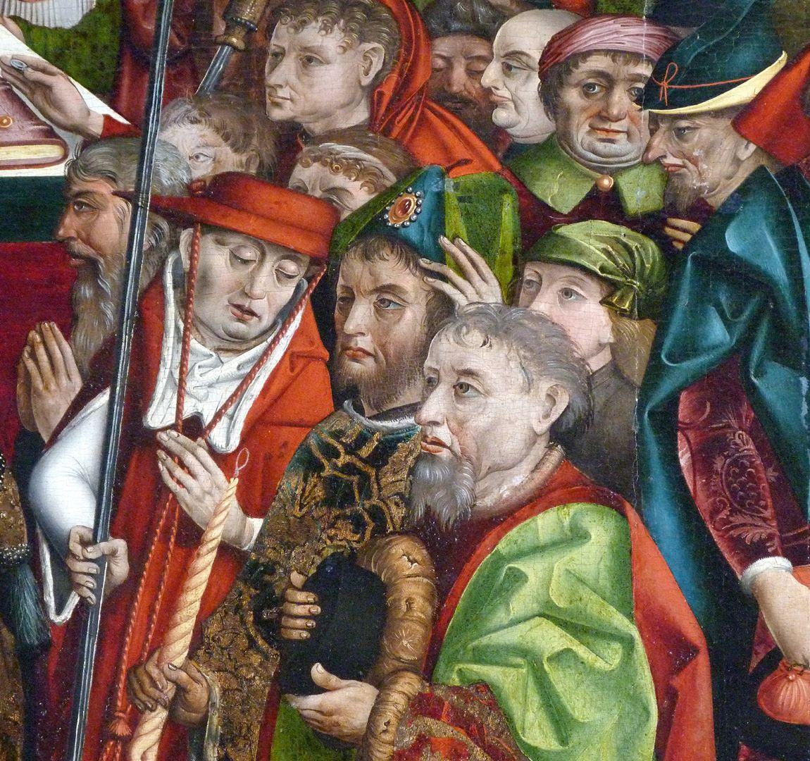 Epitaph des Hans Mayer (gest. 21.8.1473) und Ehefrau Kunigunde, geborene Sternecker (gest. 23.3.1450) Mittelteil der Tafel, Detail