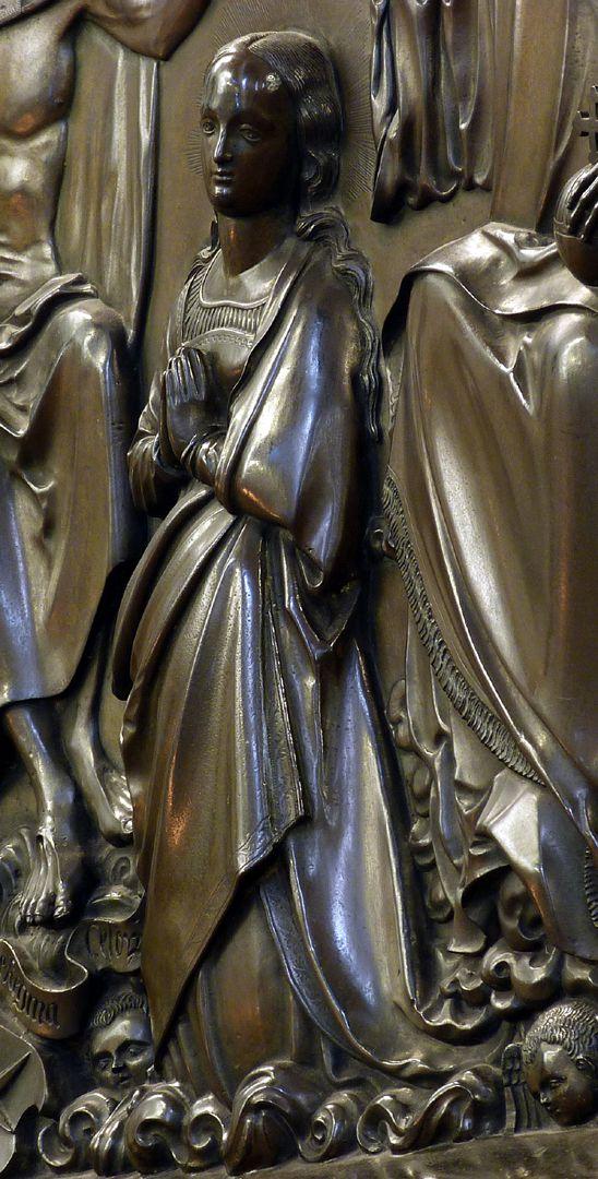 Epitaph des Propstes Henning Göden (gest. 1521) Schrägansicht Maria