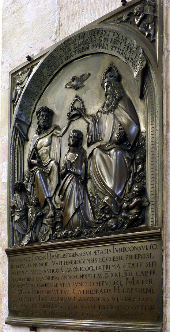 Epitaph des Propstes Henning Göden (gest. 1521) Schrägansicht von rechts, gesamt