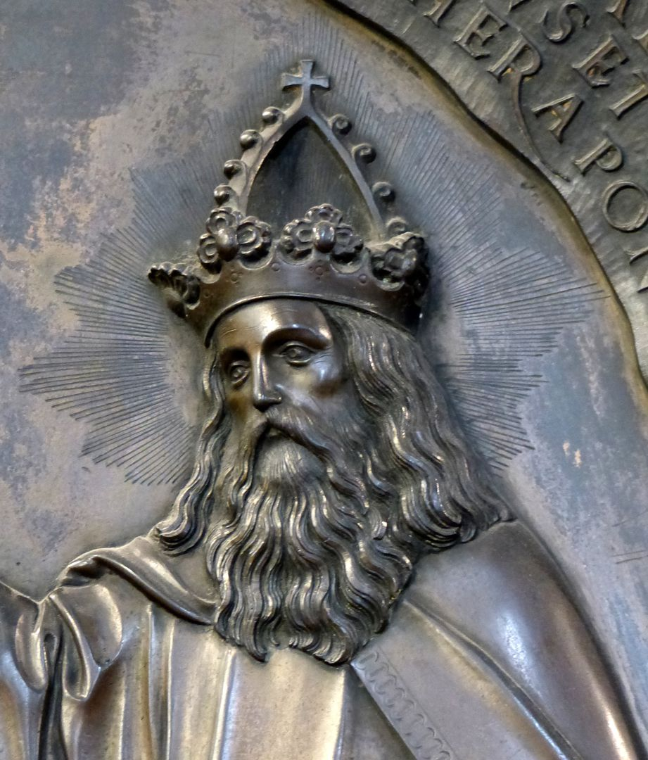 Epitaph des Propstes Henning Göden (gest. 1521) Gottvater mit Kaiserkrone, Detail
