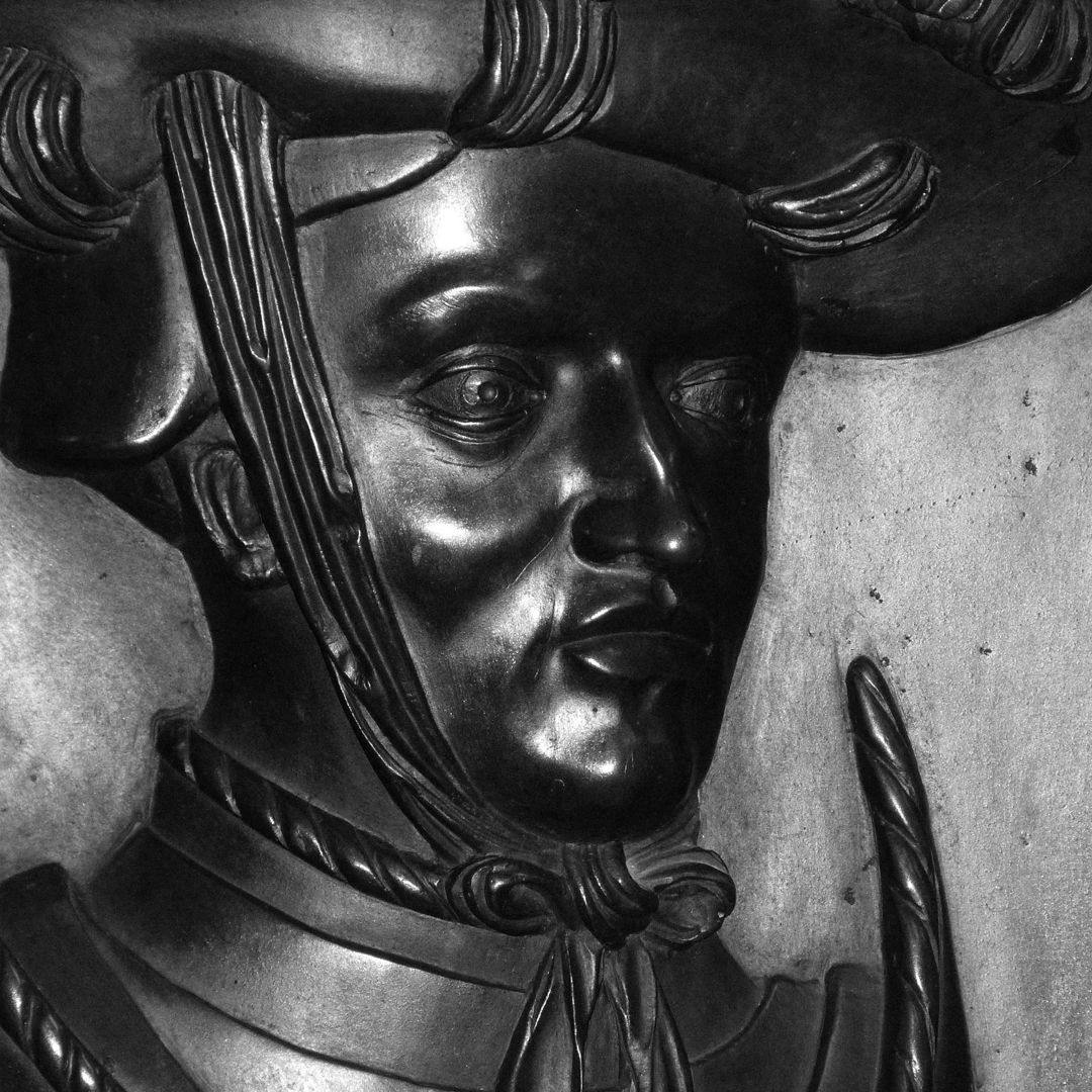 Epitaph des Wolf von Schaumberg Portrait des Verstorbenen, Detail