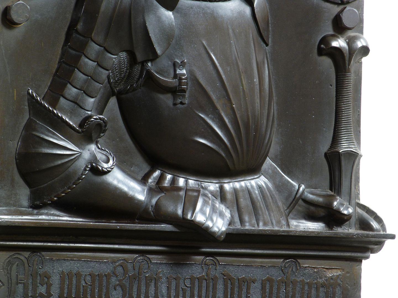Epitaph des Wolf von Schaumberg (Lichtenfels) Harnisch, Detail