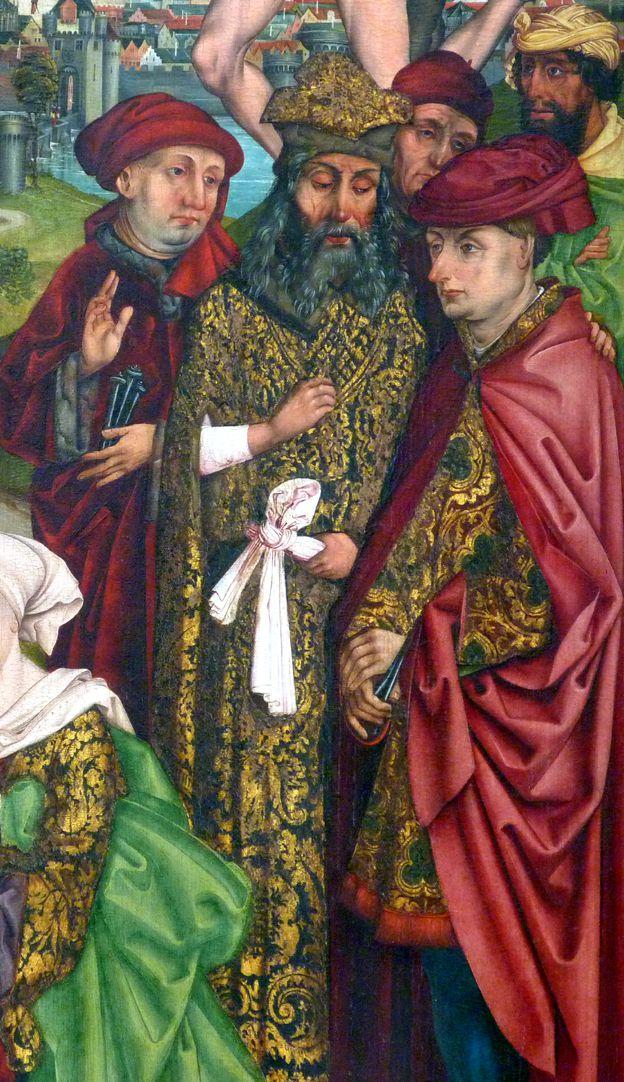 Epitaph für Georg Keyper Männergruppe, in der Mitte Josef von Arimathäa, rechts daneben Nikodemus