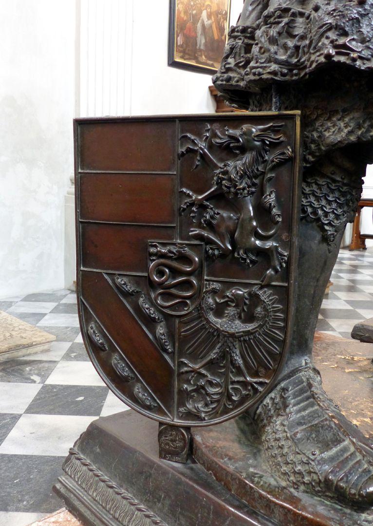 Ernst der Eiserne (Innsbruck) Wappenschild