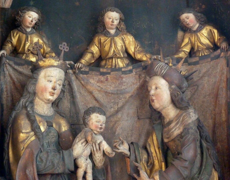 Katharinenaltar in St. Egidien Mittelschrein, Detailansicht