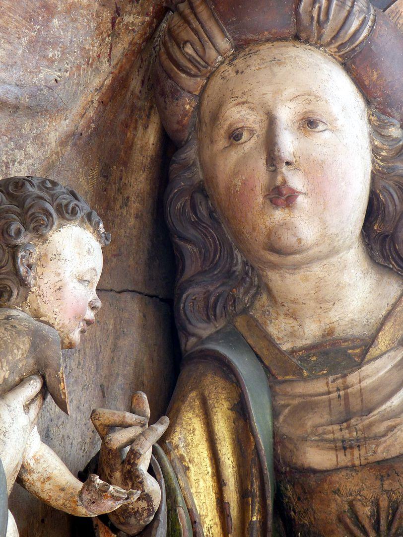 Katharinenaltar in St. Egidien Jesuskind und Katharina, Ring abgegangen