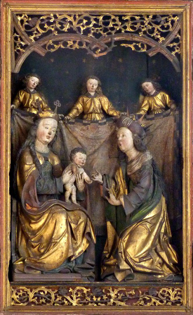 Katharinenaltar in St. Egidien Mittelschrein, geistliche Vermählung der hl. Katharina