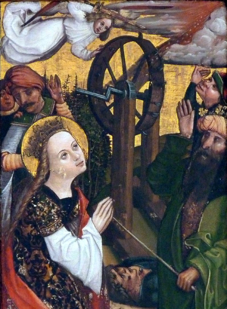 Katharinenaltar in St. Egidien Radwunder im Detail