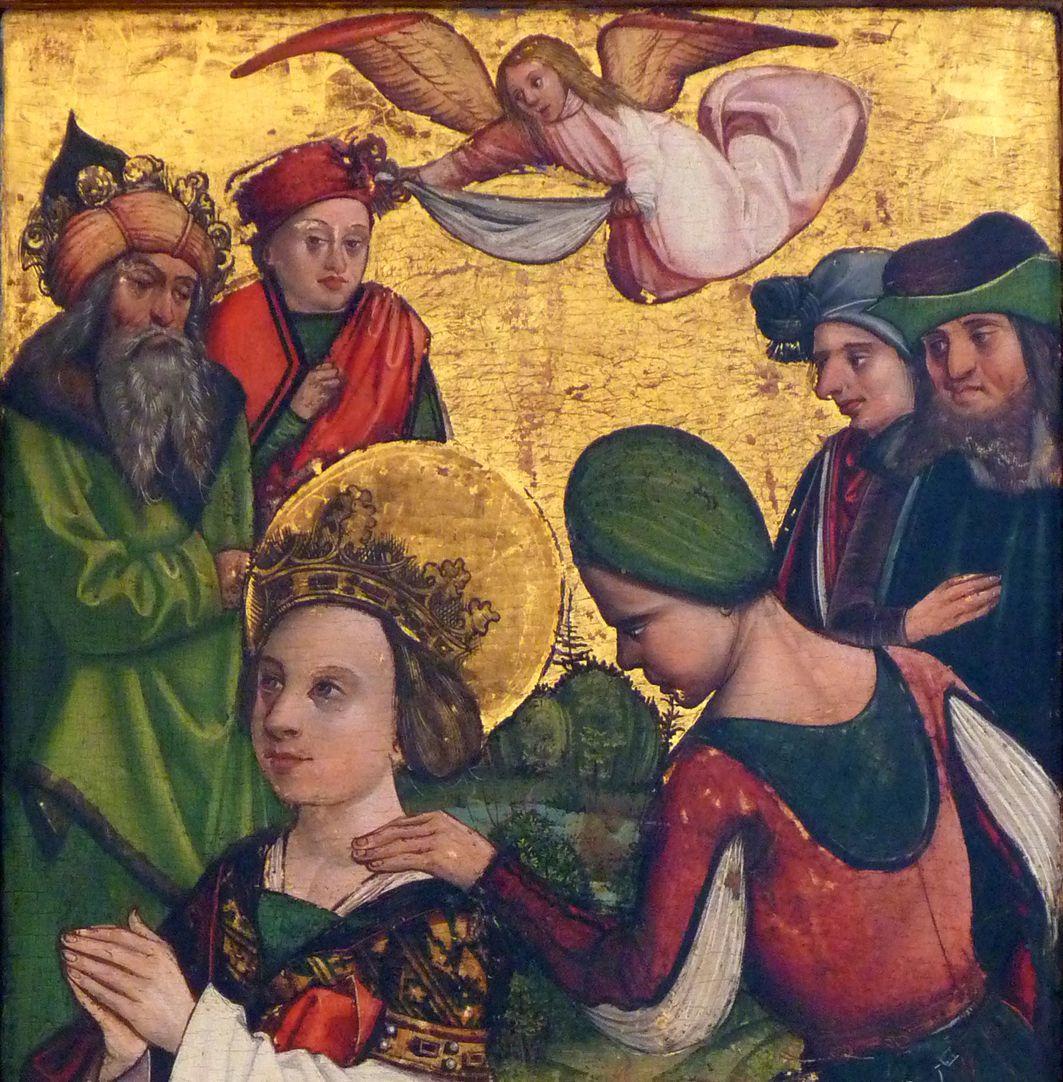 Katharinenaltar in St. Egidien Vorbereitung zur Enthauptung der Heiligen, Detail