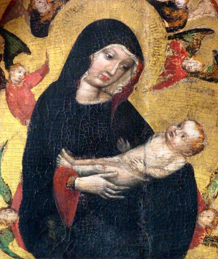 Epitaph der Elsbeth Waldstromer Mutter Gottes von Engeln umringt