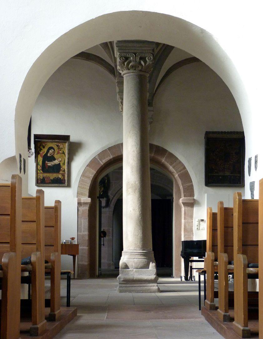 Euchariuskapelle Durchblick in die Kapelle von Ost nach West