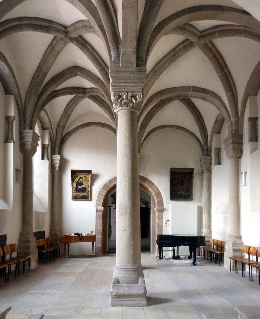 Euchariuskapelle Zweischiffige Halle von Ost nach West