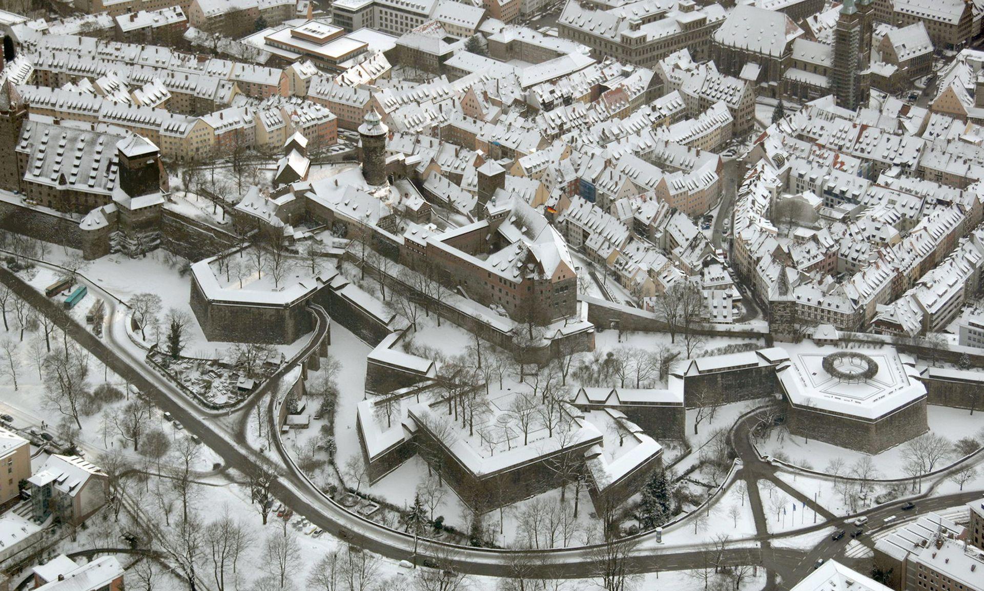 Stadtbefestigung von Fazuni Luftaufnahme der nordwestlichen Stadtbefestigung