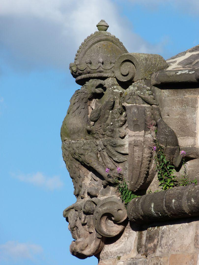 Stadtbefestigung von Fazuni Vestnertorbastei mit Reichswappen