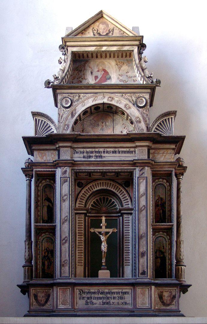 Flötner Altar (Ansbach) Gesamtansicht