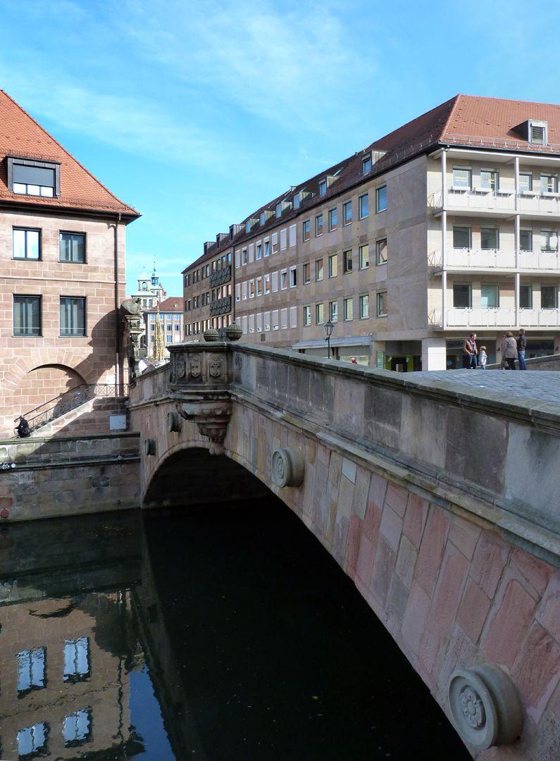 Fleischbrücke Schrägansicht von Südwest