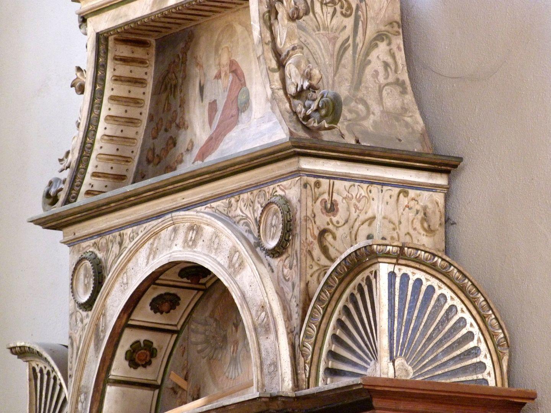 Flötner Altar (Ansbach) Ädikula, Detail