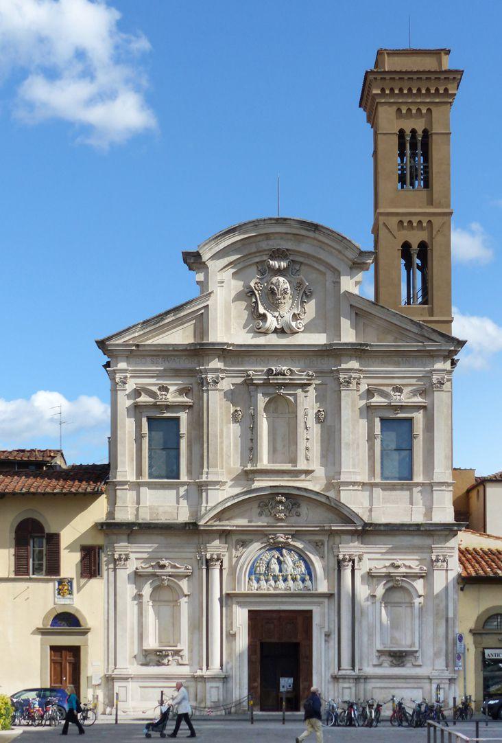 Kruzifixus Fassade von Ognissanti in Florenz