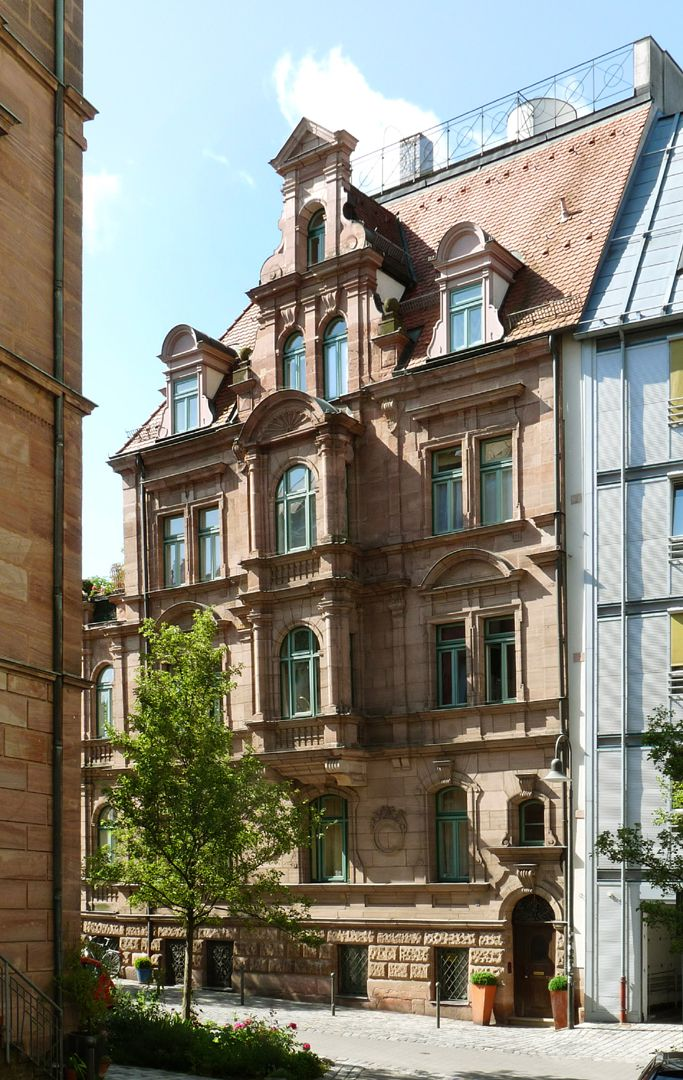 Wohnhaus, Großweidenmühlstraße 1 Nordseite