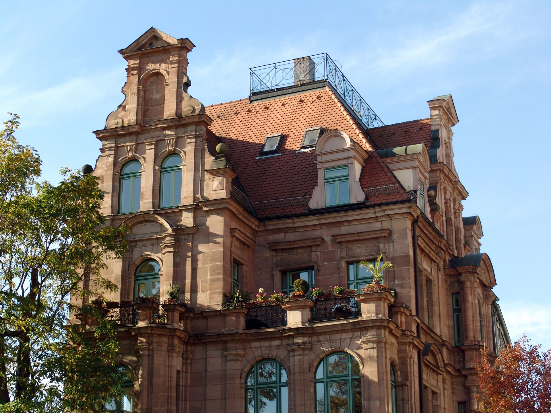 Wohnhaus, Großweidenmühlstraße 1 Ostgiebel