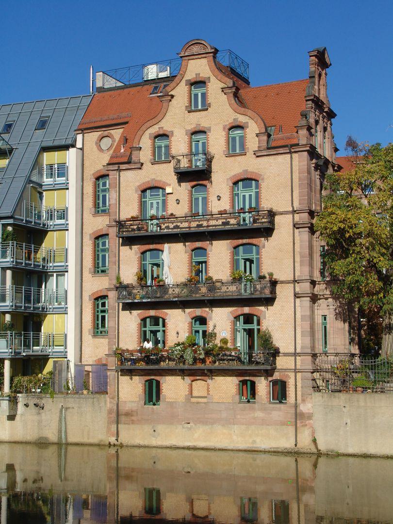 Wohnhaus, Großweidenmühlstraße 1 Süd- oder Pegnitzseite