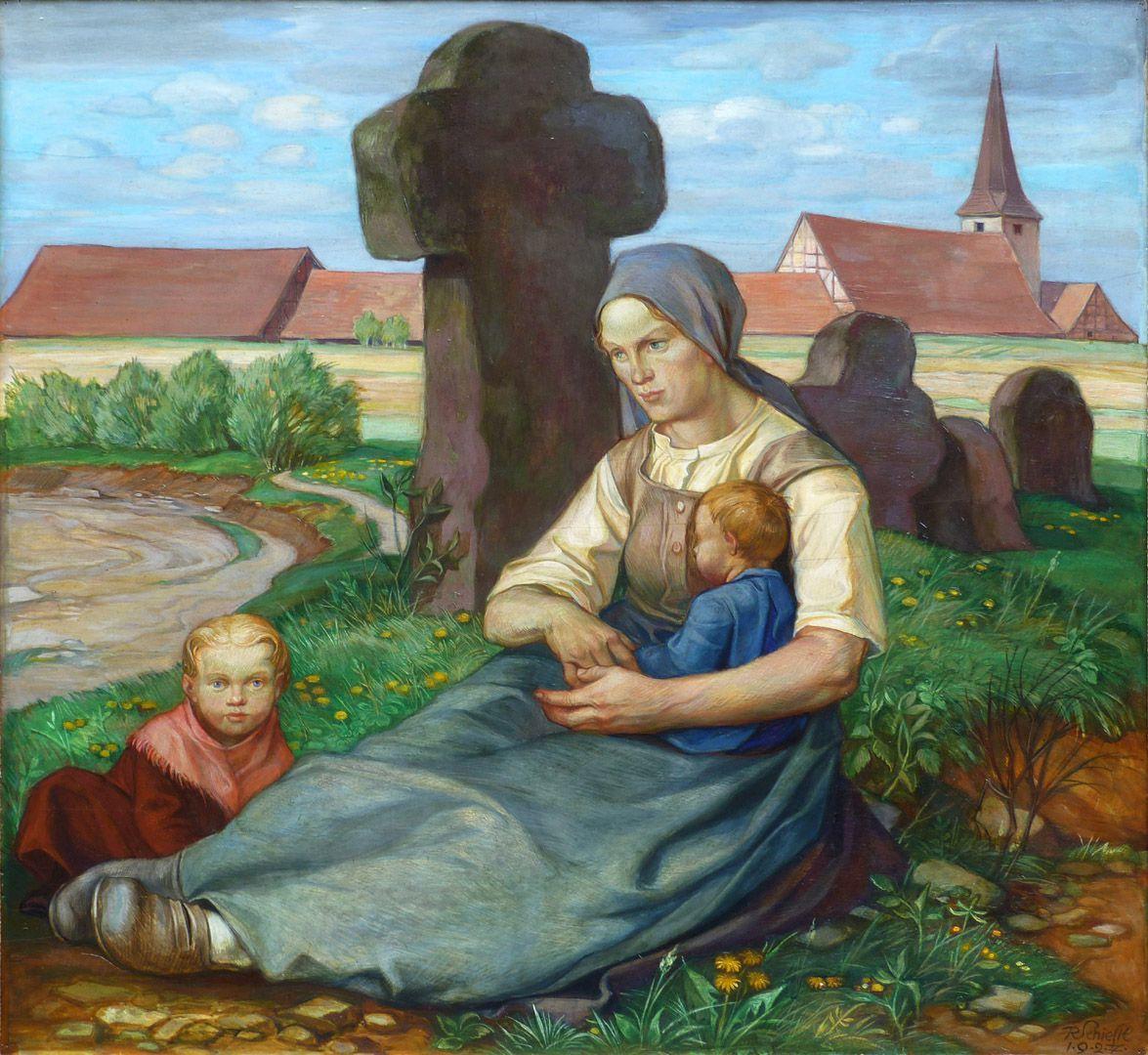 Frau am Steinkreuz