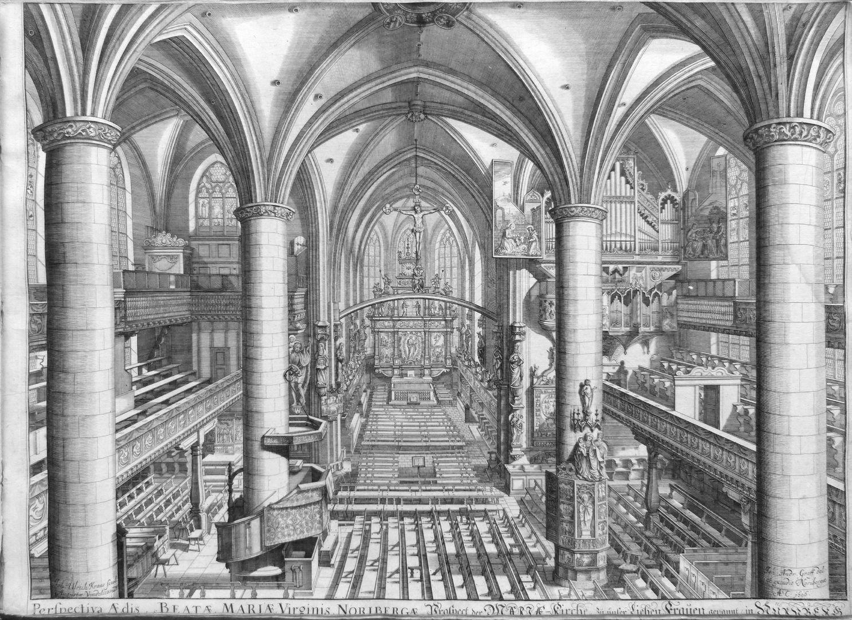 """""""Urbis Norimbergensis Insigniorum Templorum …"""" Frauenkirche"""