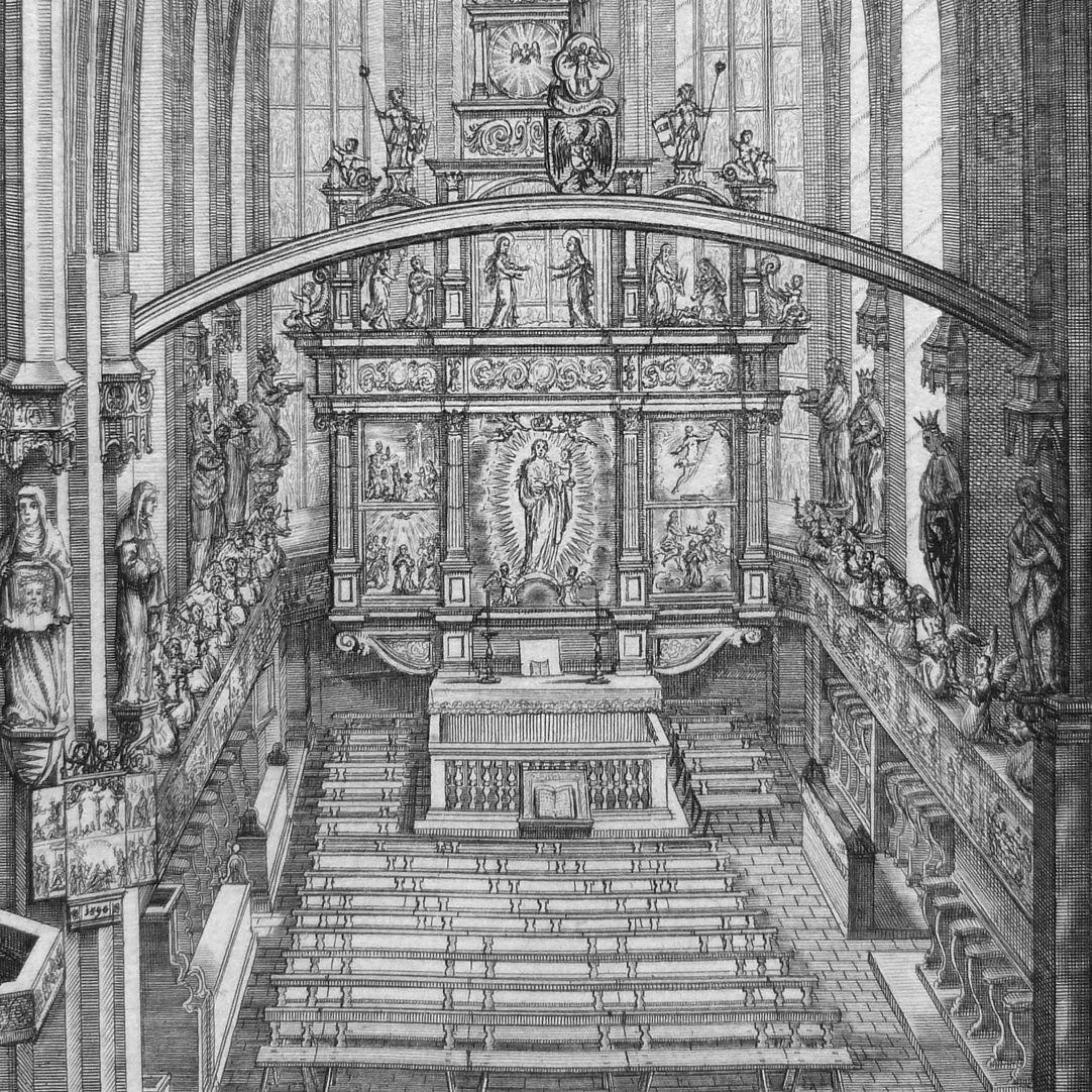 """""""Urbis Norimbergensis Insigniorum Templorum …"""" Frauenkirche Hauptaltar"""