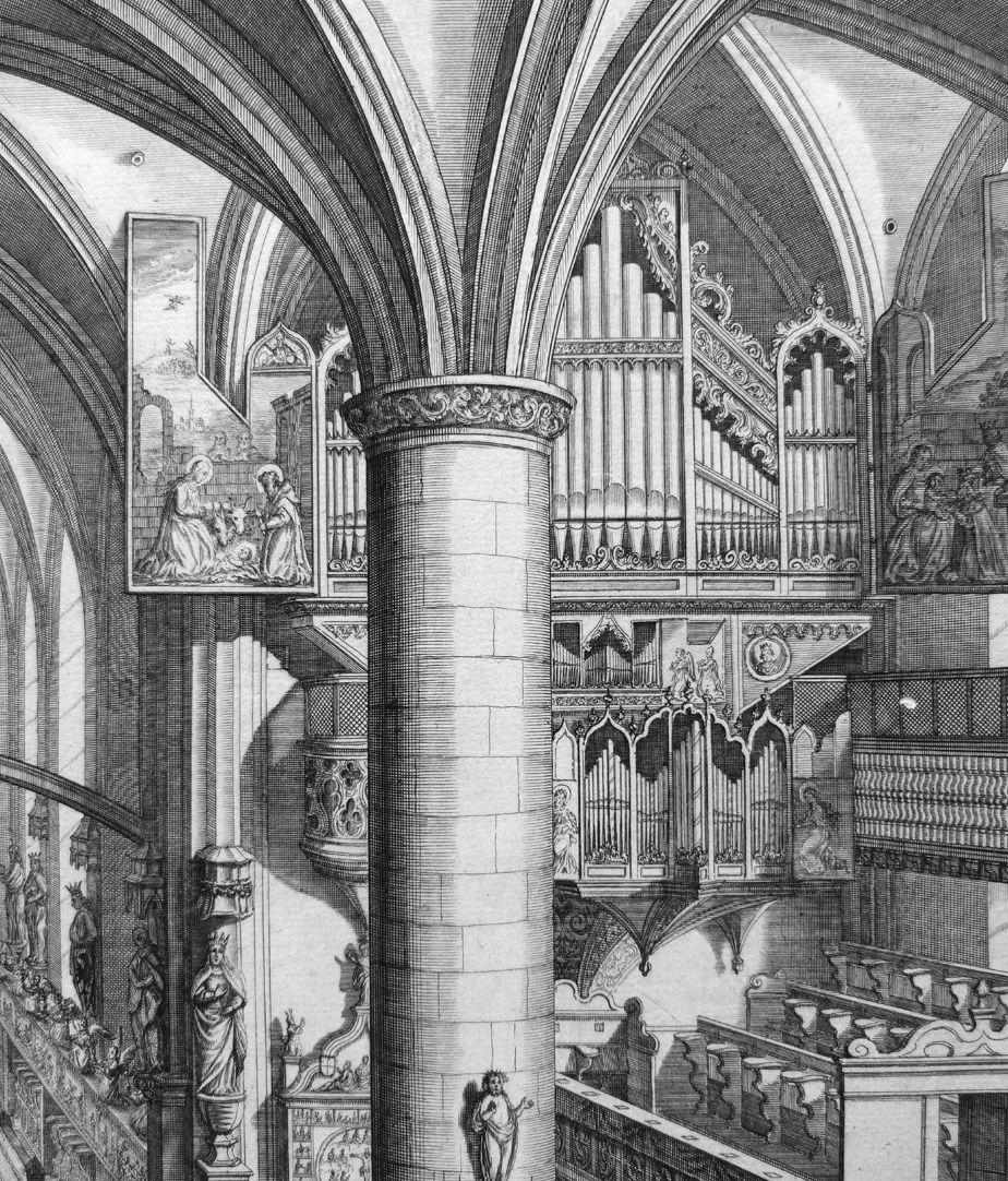 """""""Urbis Norimbergensis Insigniorum Templorum …"""" Frauenkirche Hauptorgel"""